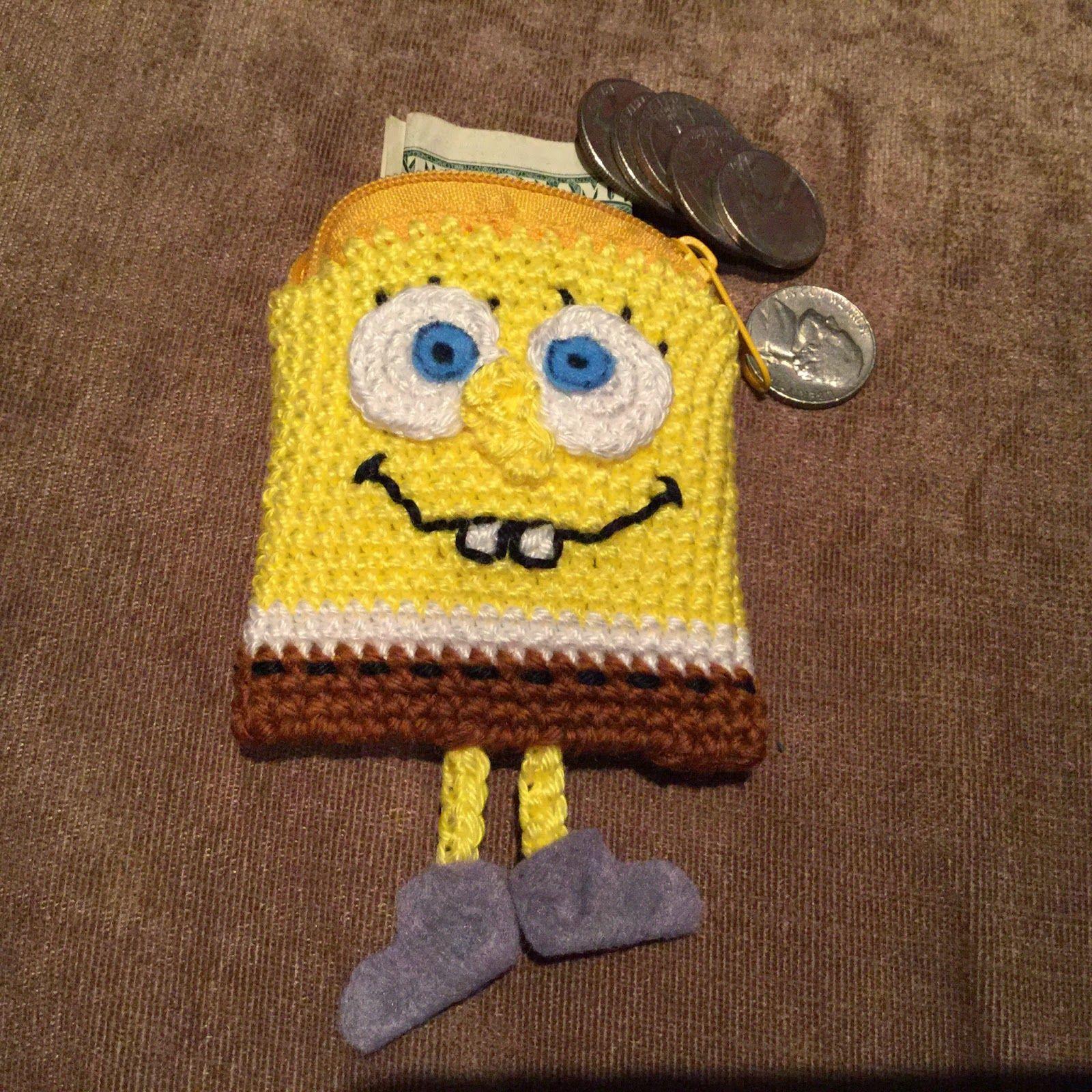 Annies DIY: gehäkelte Mini-Börse Schwammkopf   Minion   Pinterest ...