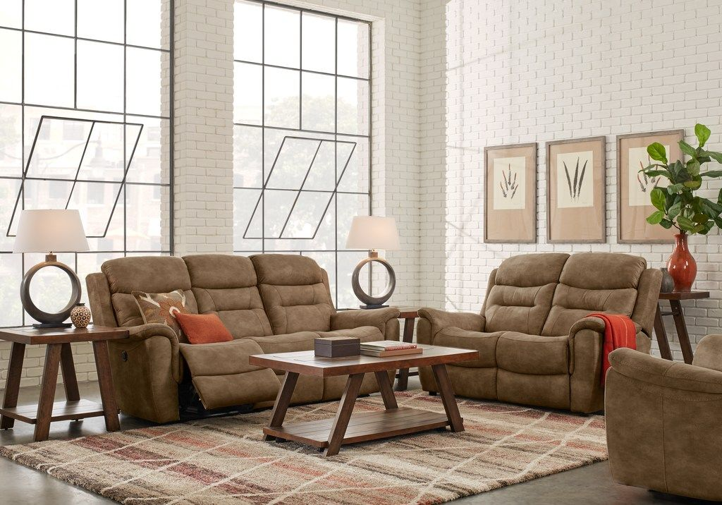 Halton Hills Brown 3 Pc Living Room With Reclining Sofa