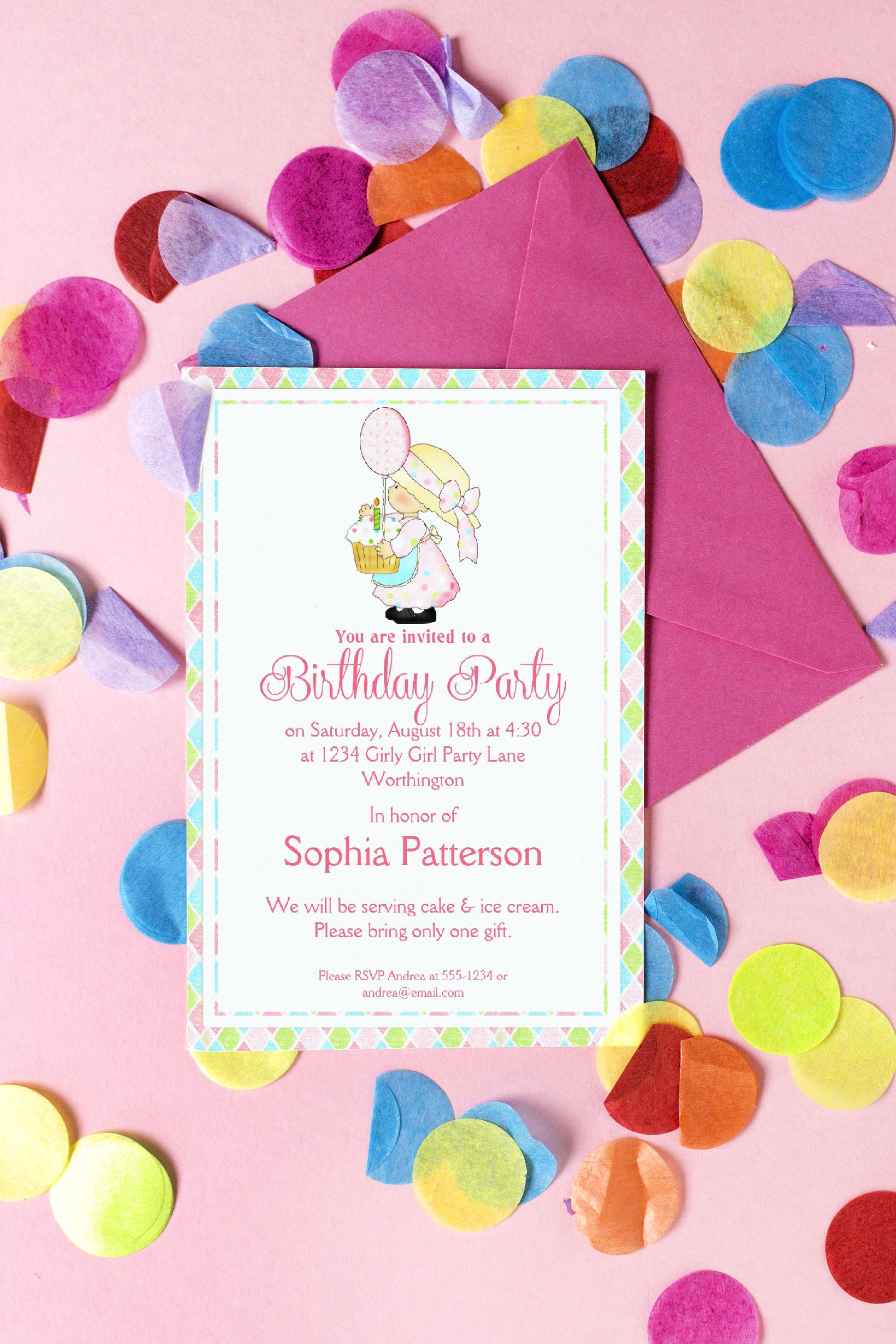 little girl birthday party invite country girl d2 in 2018