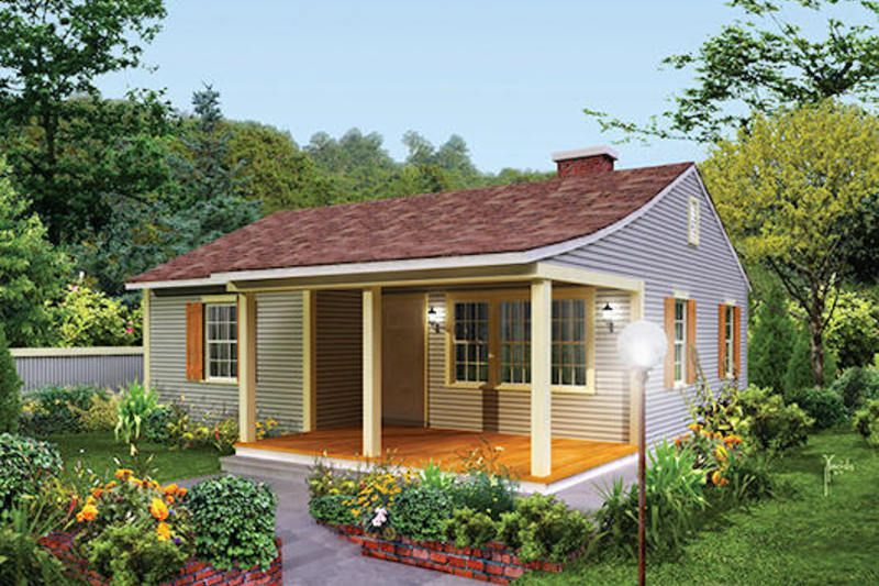 Cottage Style House Plan 2 Beds 1 Baths 733 Sq Ft Plan 57 499 Cottage House Plans Small Cottage House Plans Cottage Style House Plans