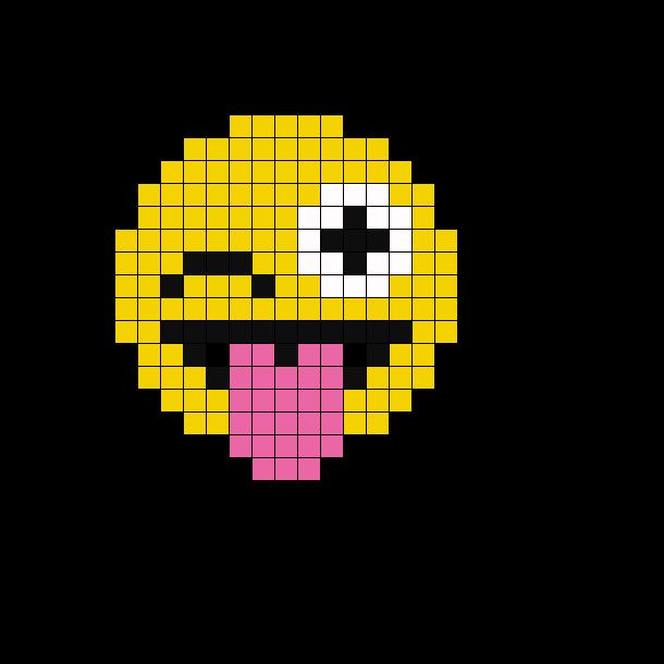 Emoji Perler Bead Pattern Perler Bead Emoji Pixel Art