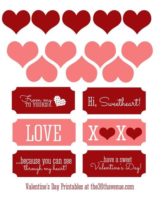 graphic about Free Valentine Printable known as Free of charge Valentine Printable and Centre Sweet Jar Cost-free