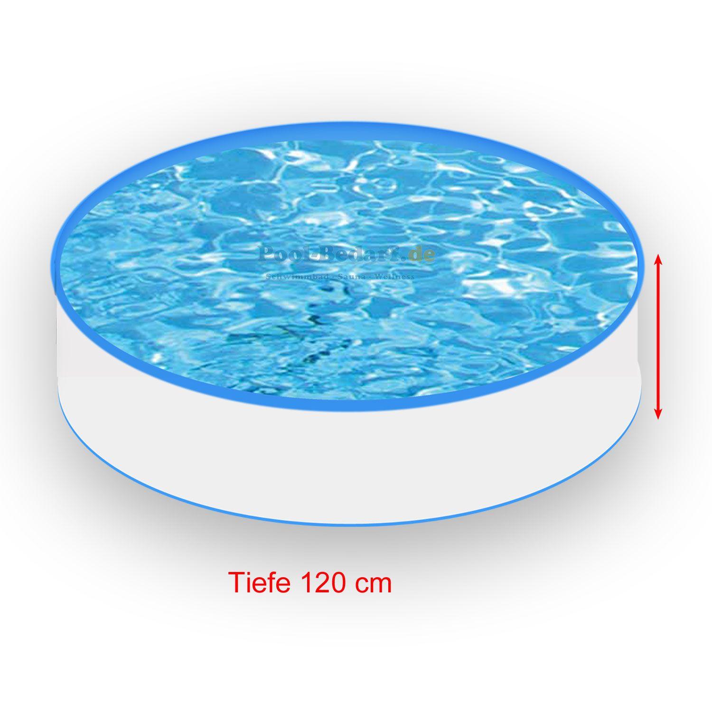 Stahlwand Rundbecken Set Durchmesser 300 cm Folie blau
