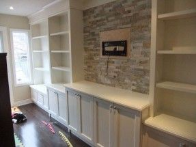 Furniture White Varnished New Built In Wall Units With Open Racks Also Tv Center Storage As Media R Family Room Walls Built In Wall Units Living Room Built Ins