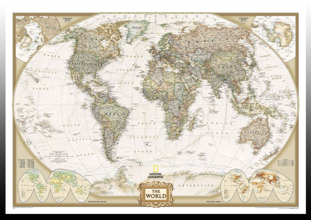 Vintage world map art printposter sizes a4a3a2a1 003065 vintage art posters ebay gumiabroncs Images