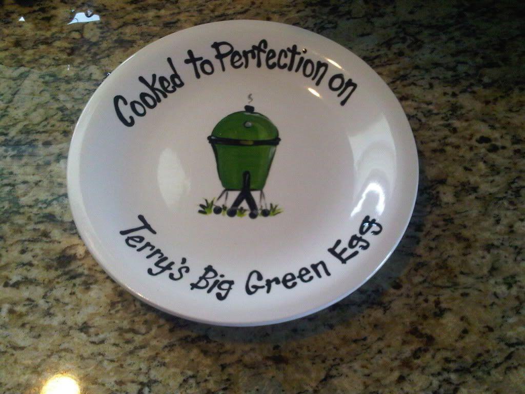 big green egg gifts | Custom BGE Plate Picture - Big Green Egg - EGGhead Forum - The ...