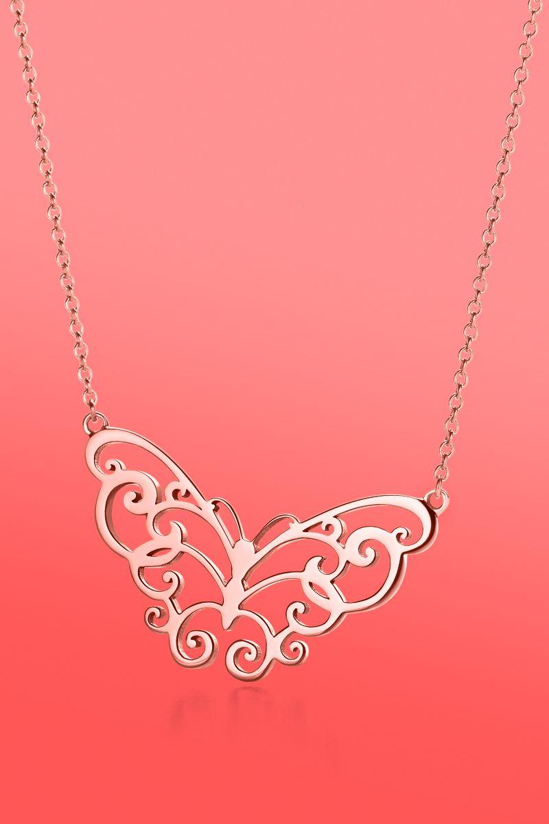 5ec809a4c Love takes wing. Tiffany Enchant® butterfly pendant in RUBEDO® metal ...