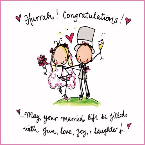 Hurrah Congratulations May Your Married Life Be Filled With Fun Love Joy And Laugh Wedding Congratulations Quotes Congratulations Quotes Wedding Day Wishes