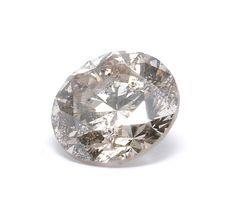 0.37 ct IGI certified natural very light Brown diamond