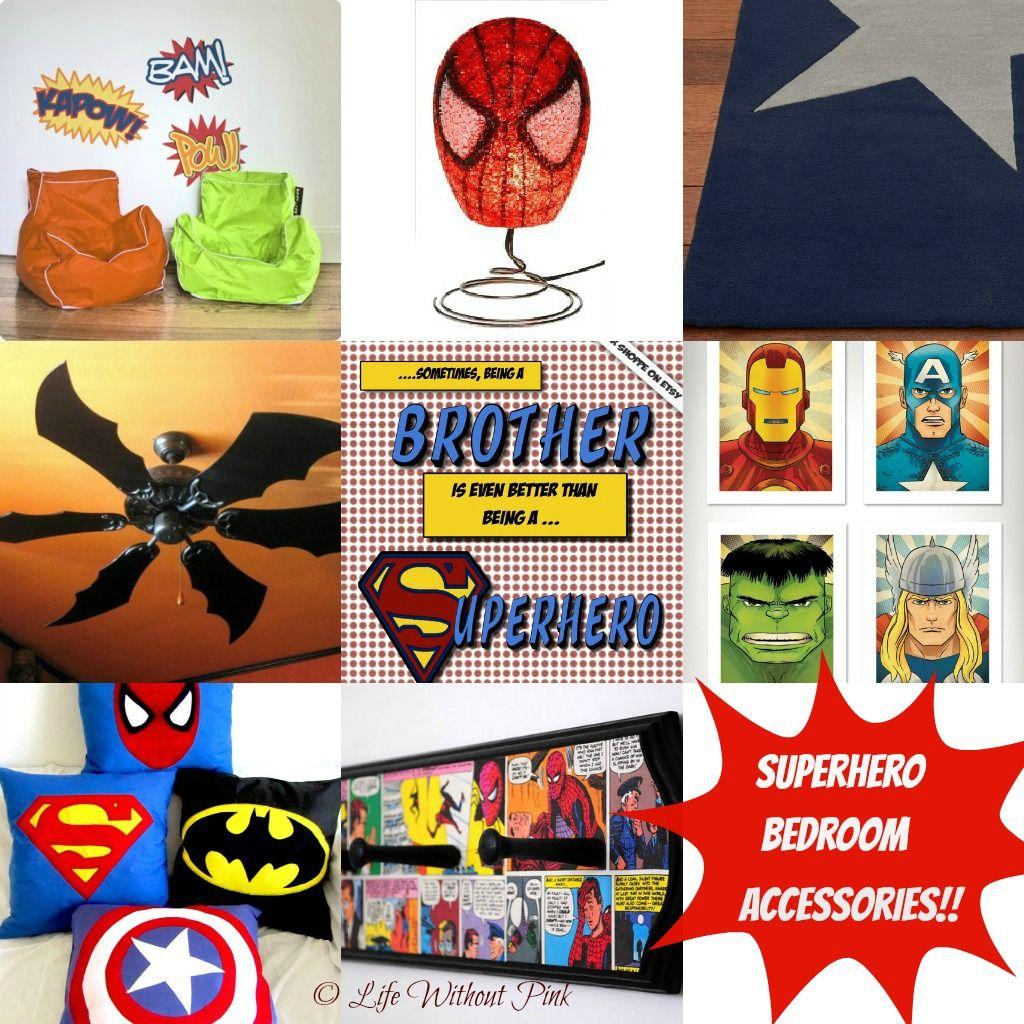 Boys Superhero Room Decor: Superhero Bedroom Accessories