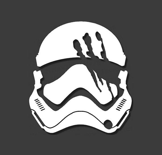 Finn stormtrooper decal star wars decal helmet the by - Pochoir star wars ...