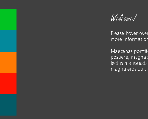 Colorful Hover Tabs Template - Here's a simple