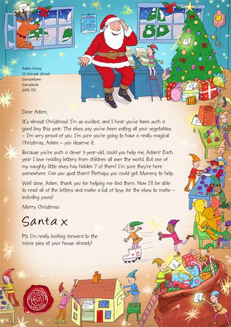 Printable Reply letter from Santa Kids Christmas Printable Dear - christmas letter format
