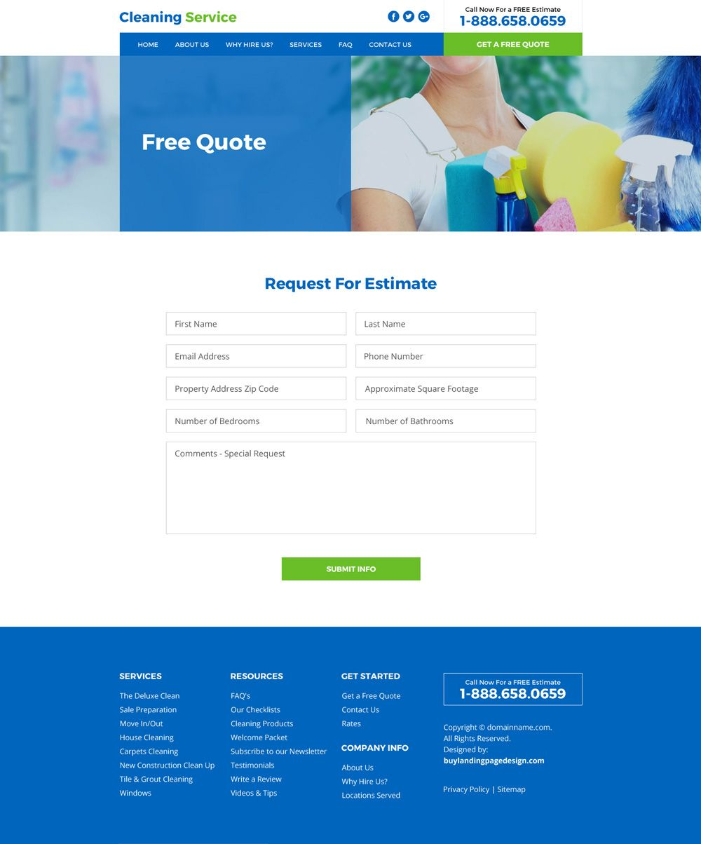house cleaning service professional website design html website templates create website app design