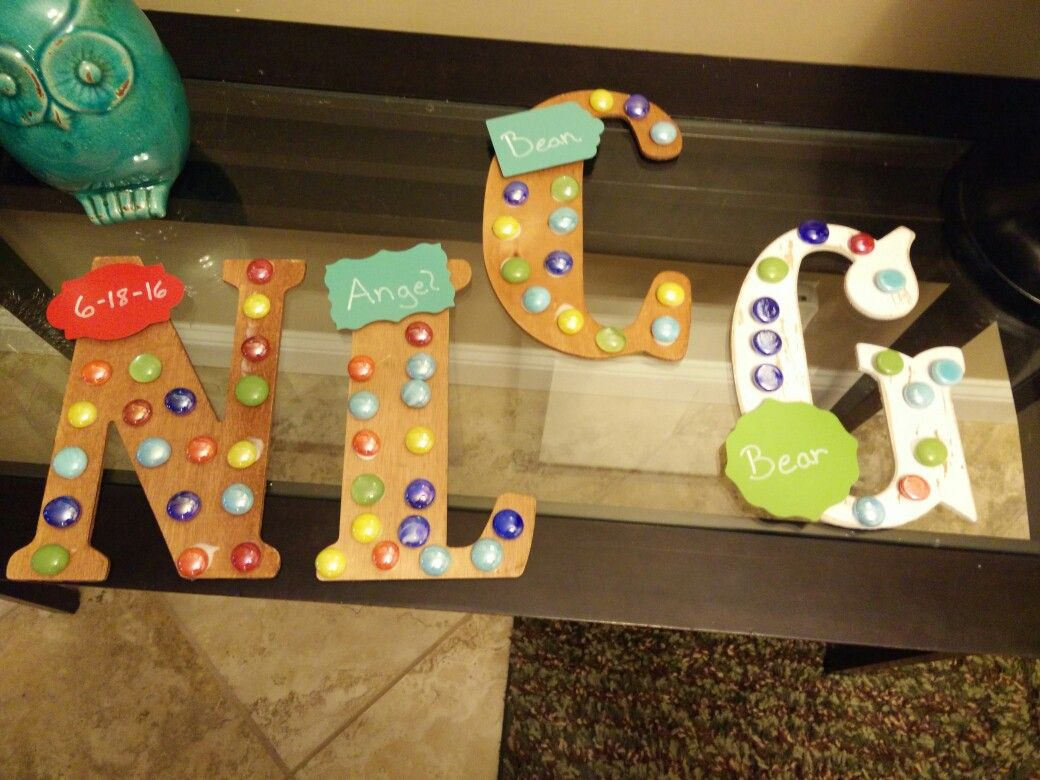Kids letters for their rooms   Daycare ideas come to life ...