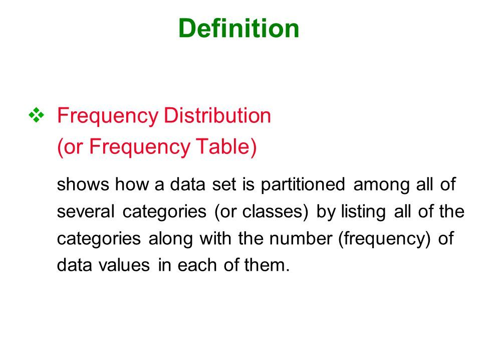 1c Frequency Definition Waves Frequency Table Definitions Frequencies