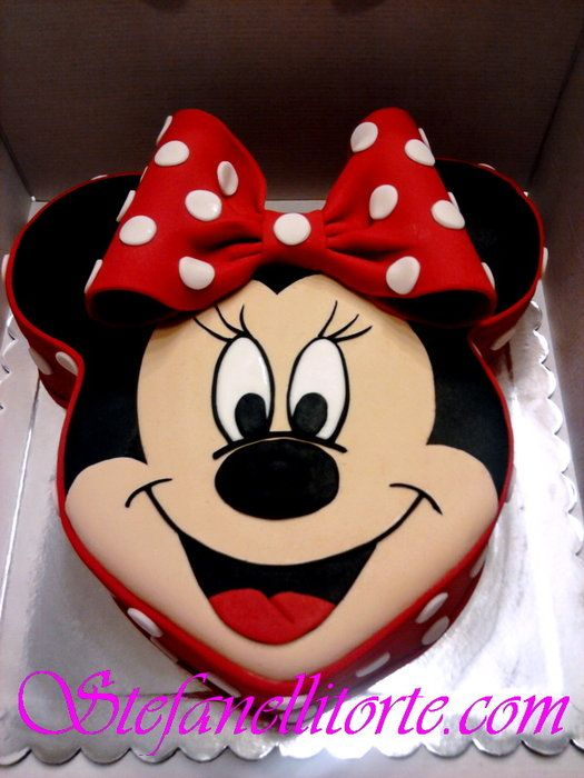 Cool Cute Mini Cake Minnie Mouse Cake Minnie Cake Mickey Cakes Funny Birthday Cards Online Overcheapnameinfo
