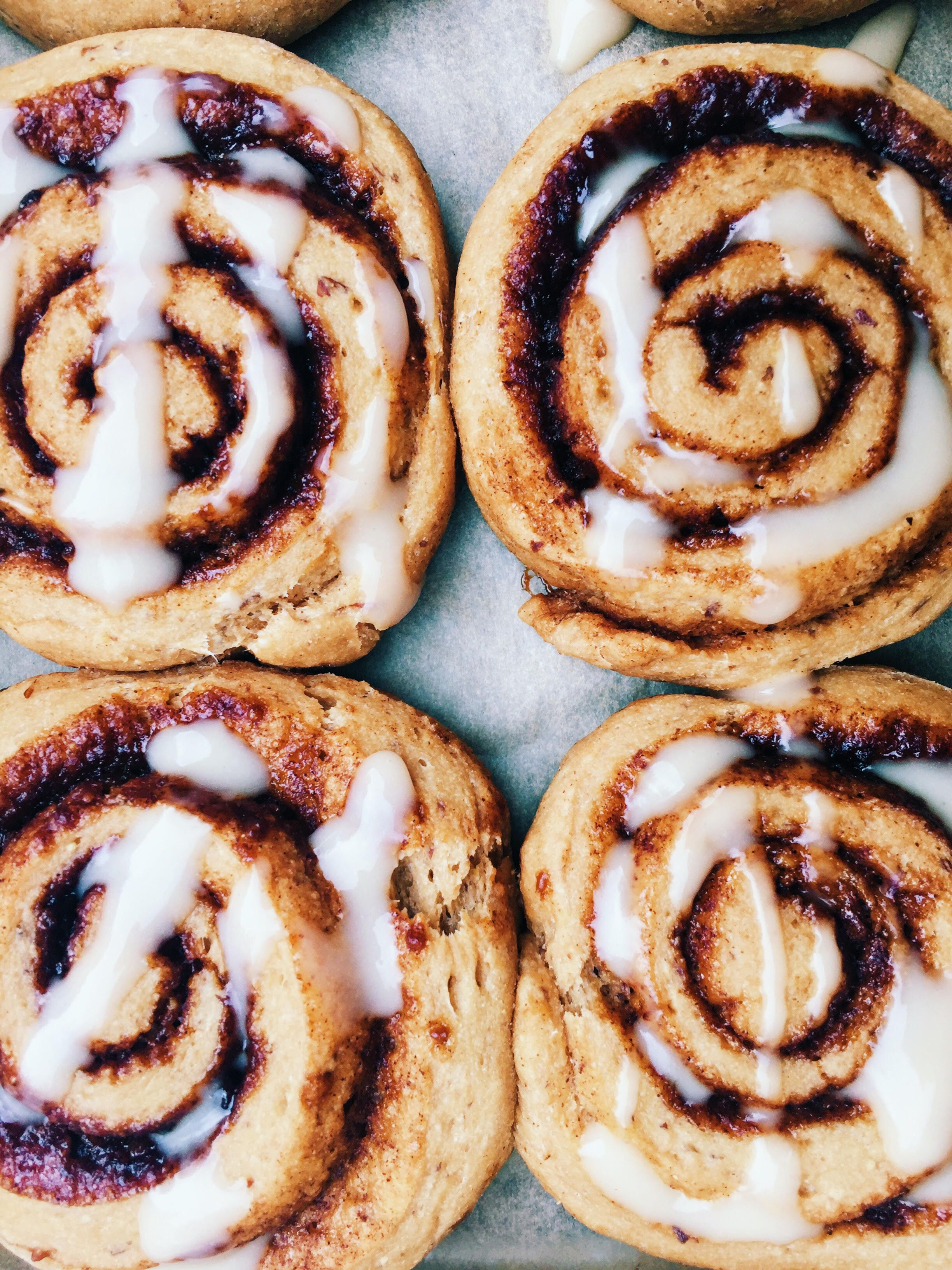 Healthier Whole Wheat Cinnamon Buns With Coconut Butter Icing Vegan Cinnamon Buns Sweet Bread Rolls Vegan Cinnamon Rolls