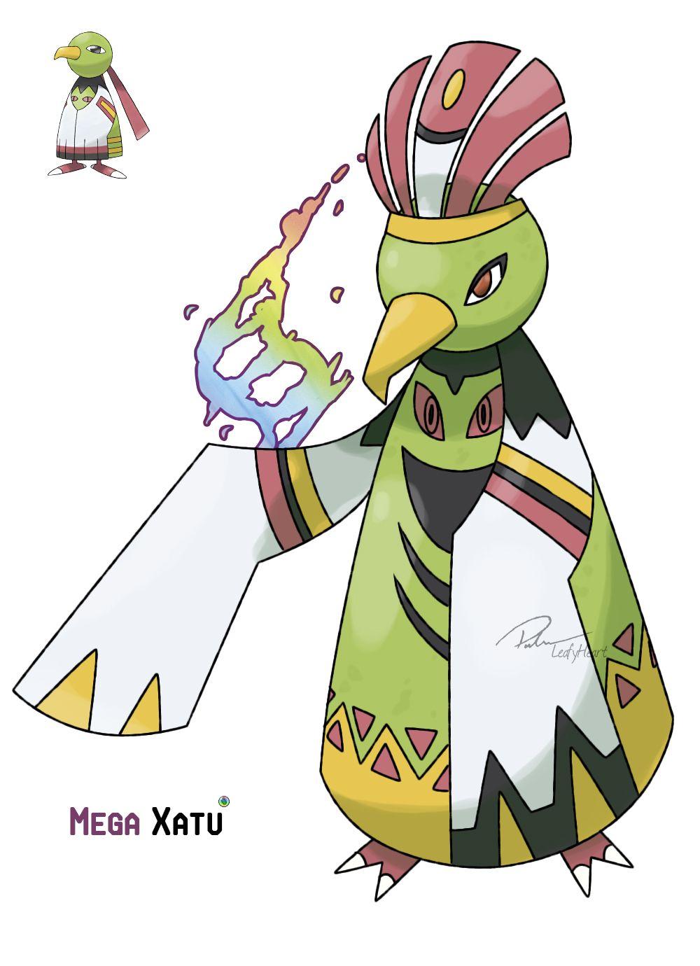 Mega Xatu Source. Artist: LeafyHeart