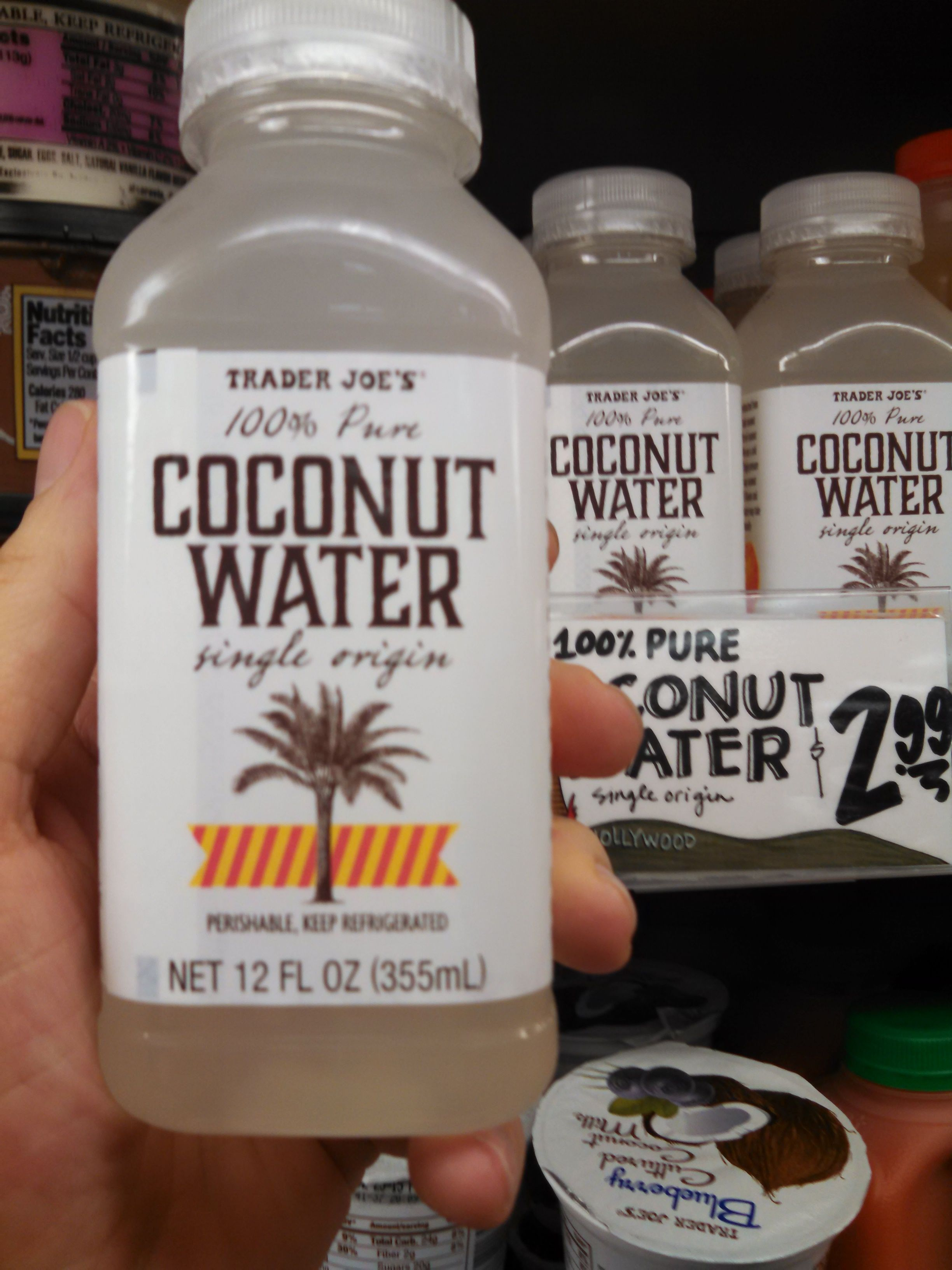 Trader Joes 100 Pure Coconut Water Single Origin Faves