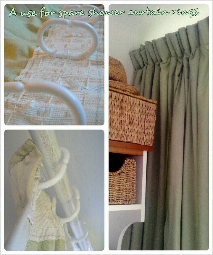 Using Spare Plastic Shower Curtain Rings To Hang Curtains Over