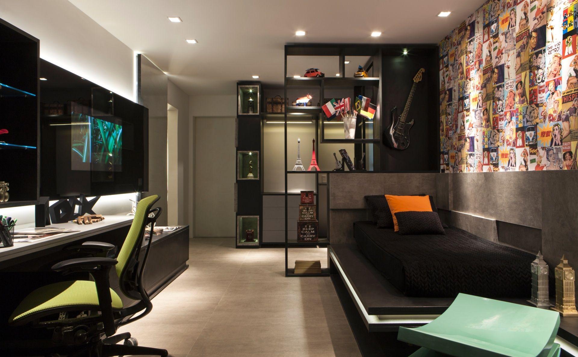 Inspire se em ideias para decorar quartos de solteiro - Decoracion habitacion individual ...