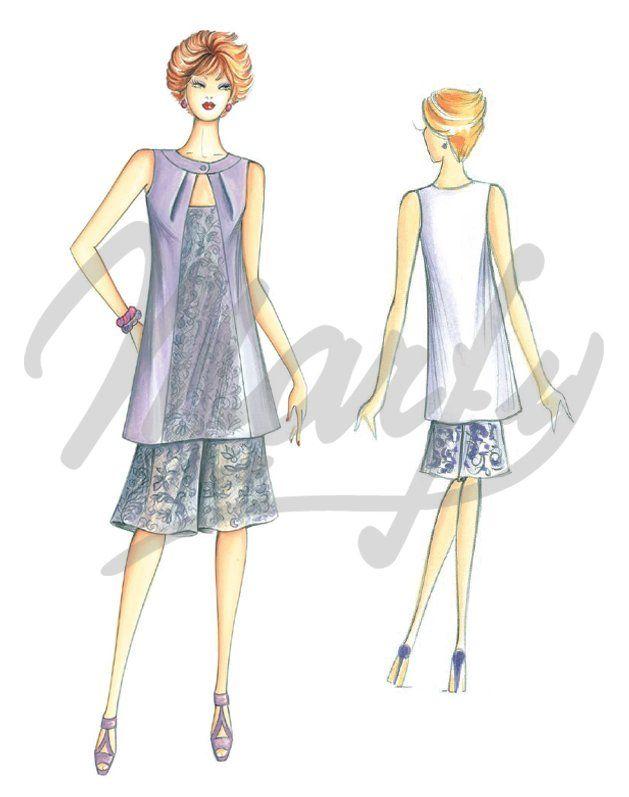 Molde 3398 PDF | Patrón de costura Camisas / Casacas | marfy ...