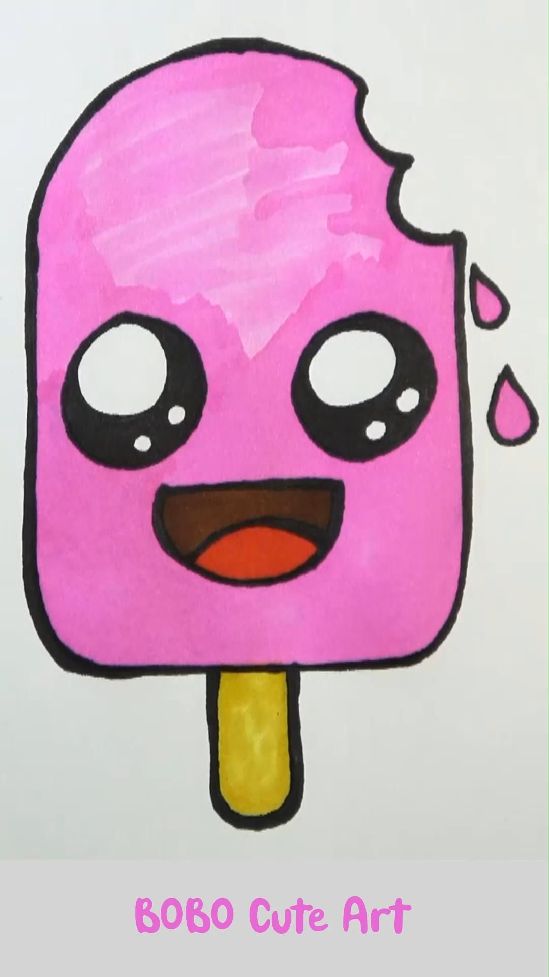 How to Draw Cute Ice Cream | BOBO Cute Art #cutedr
