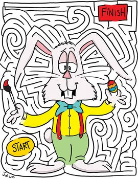 Easter Bunny Maze | Easter fun, Happy easter printable ...
