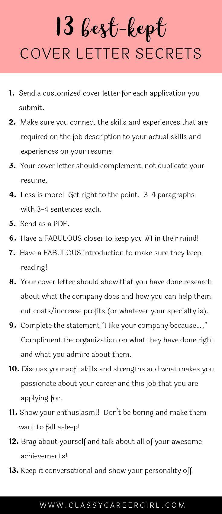 The 13 BestKept Cover Letter Secrets Cover letter for