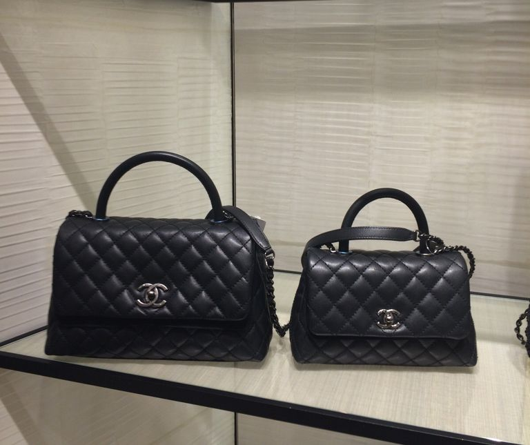 44b56f0c3d2d Chanel Black Coco Handle Mini and Small Bags | Bags in 2019 | Chanel ...