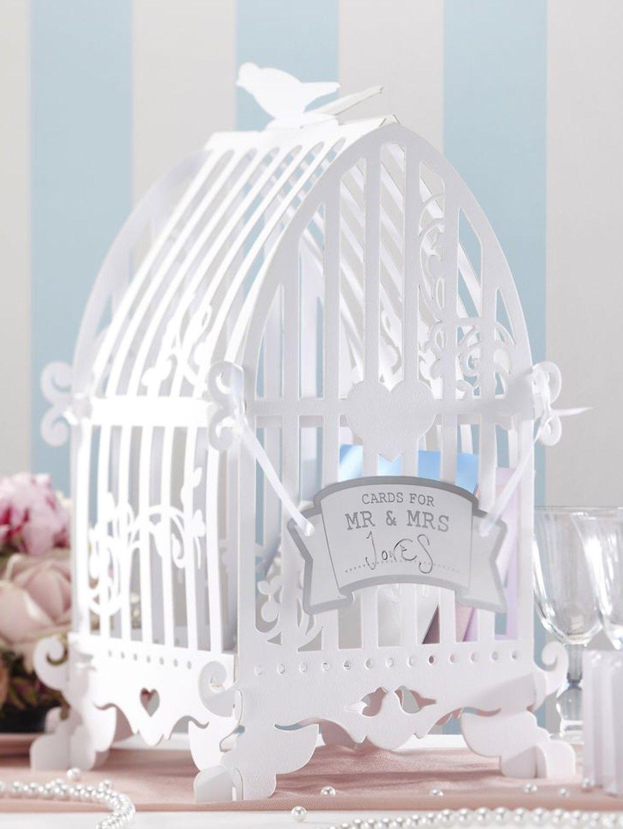 White Birdcage Wedding Postbox | Birdcages | Pinterest | Birdcage ...