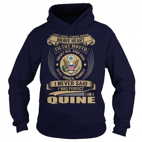 I Love QUINE Last Name, Surname Tshirt T shirts
