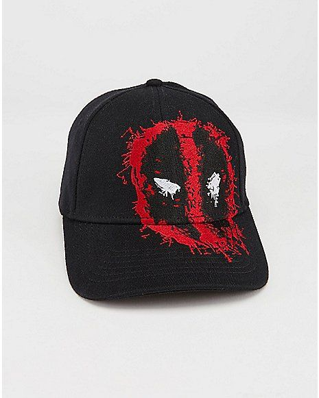 huge discount 4db70 23757 Deadpool Curved Brim Fitted Hat - Marvel Comics - Spencer s