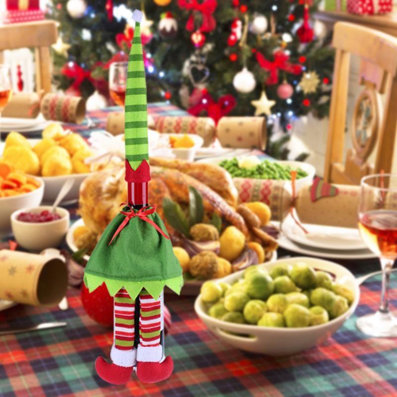 Cute Innovative Legged Elf Wine Bottle Cover Bag Banquet Christmas