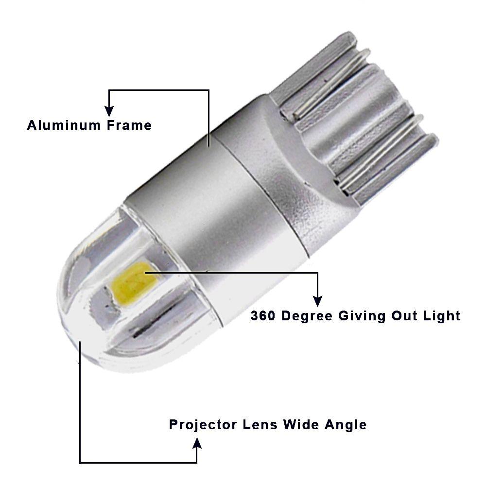 T10 Led Light Wedge Bulbs Muhize Super Bright 6000k White Dc 12v 2smd 2018 New Design For Car Rv Interior Map Dome Light Led Light Bulb T10 Led Led Lights