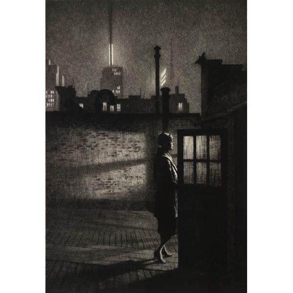 Martin Lewis Print NY At Night