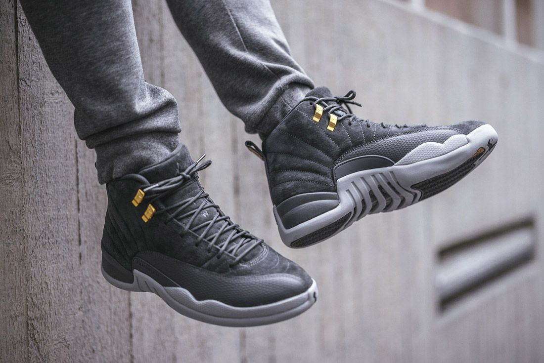 best service f3983 351d9 Air Jordan 12 'Dark Grey' Up Close and On-Foot | shoes | Air ...