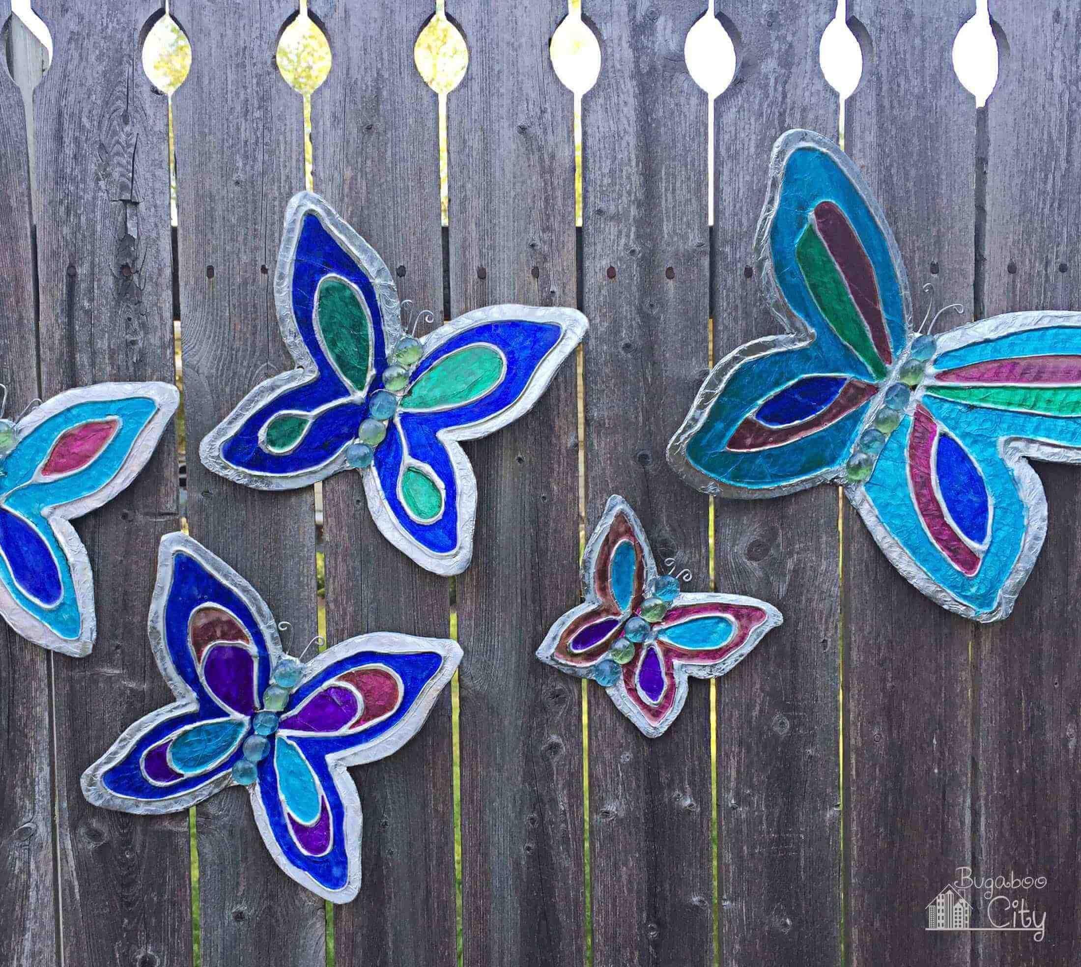 Vivid Butterflies For Your Fence Gartendeko Selber Machen Schmetterlingswanddekor Hangeschmuck Selbst Machen