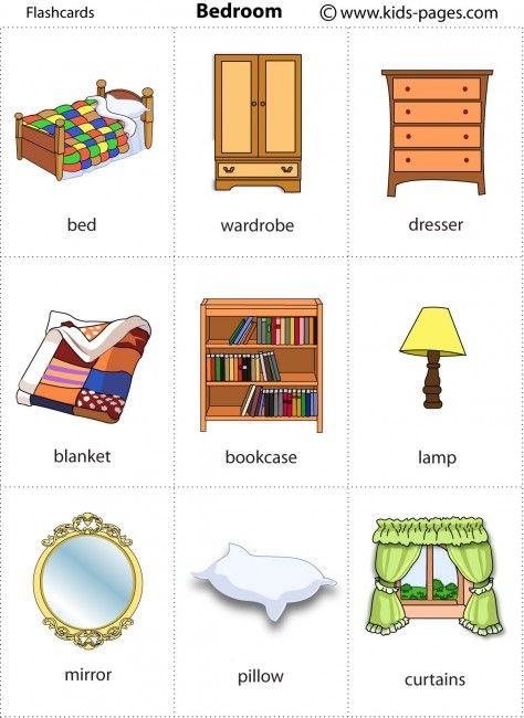 printable flashcards to work on categories descriptive language house spl pinterest. Black Bedroom Furniture Sets. Home Design Ideas