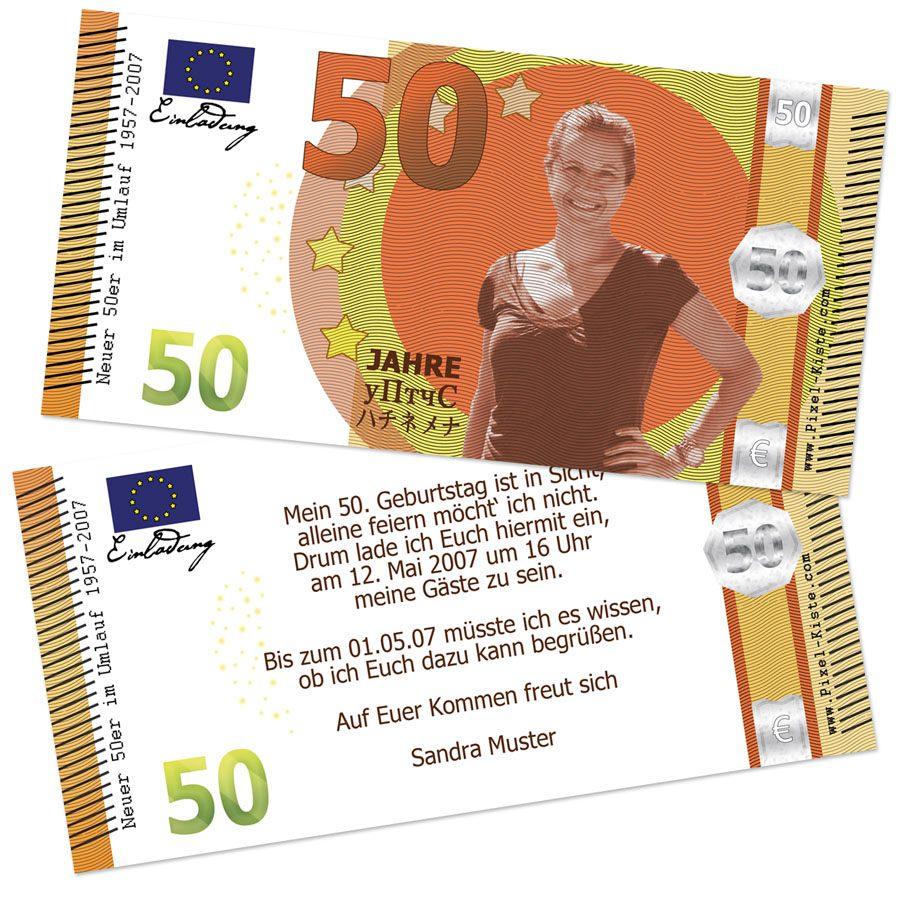 einladungskarten : 50 geburtstag einladung - einladung