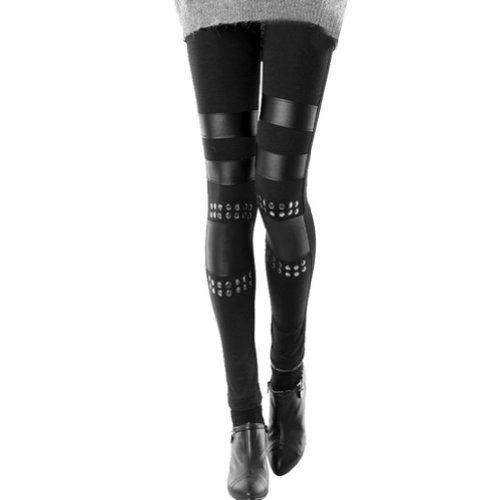 Urparcel Women Black Punk Knee Rivet Stud Spike PU Leather Inset Legging FFT115 xiaoming http://www.amazon.com/dp/B00EID443E/ref=cm_sw_r_pi_dp_Rv57wb0XGQRCN