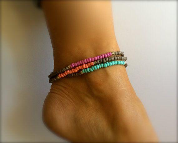 Stack Bracelet Friendship Bracelet Summer Jewelry Handmade Friendship Bracelet Pattern Bracelet Boho Jewelry Grad Gift Bracelet Pair