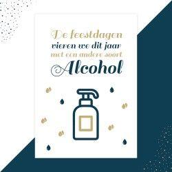 Alcohol kerstkaart - Lacarta