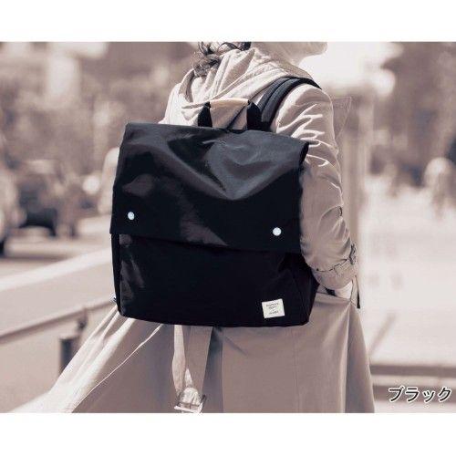 637b3b6bb881 やわらか素材の横型リュック(マミィラク×アネロ)|通販のベルメゾンネット | 好きなmono | Leather  Backpack、Backpacks、Bags