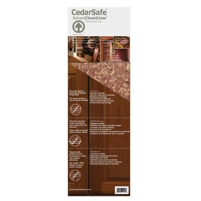 Nice CedarSafe 21.3 Sq. Ft. Aromatic Eastern Red Cedar Flake Board Closet Liner  Panels Project Pak