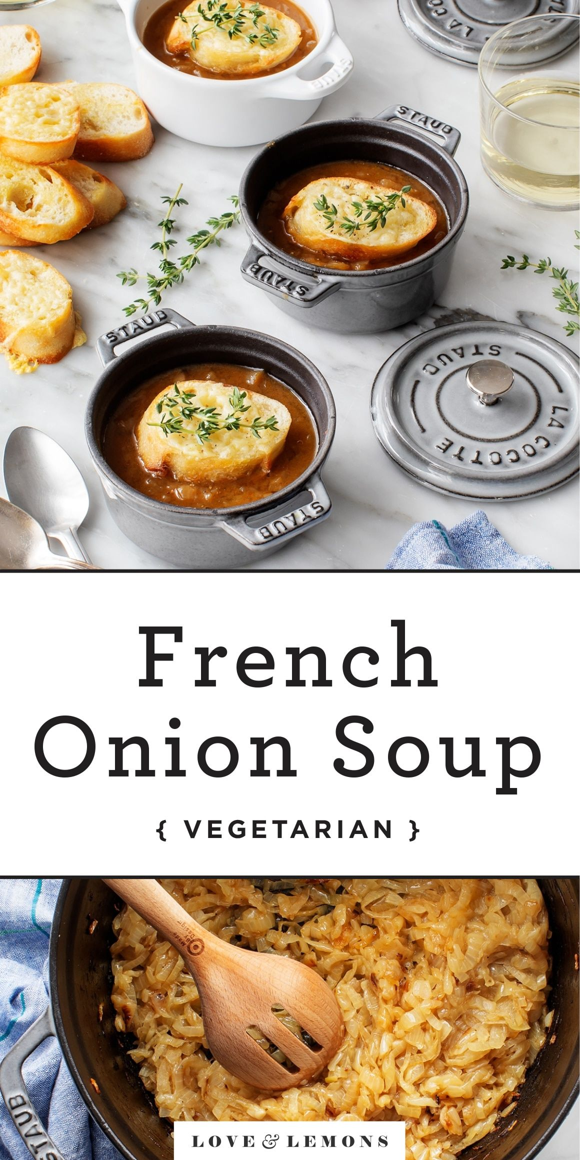 French Onion Soup Recipe Love And Lemons Recipe French Onion Soup Recipe Onion Soup Recipes Vegetarian French Onion Soup