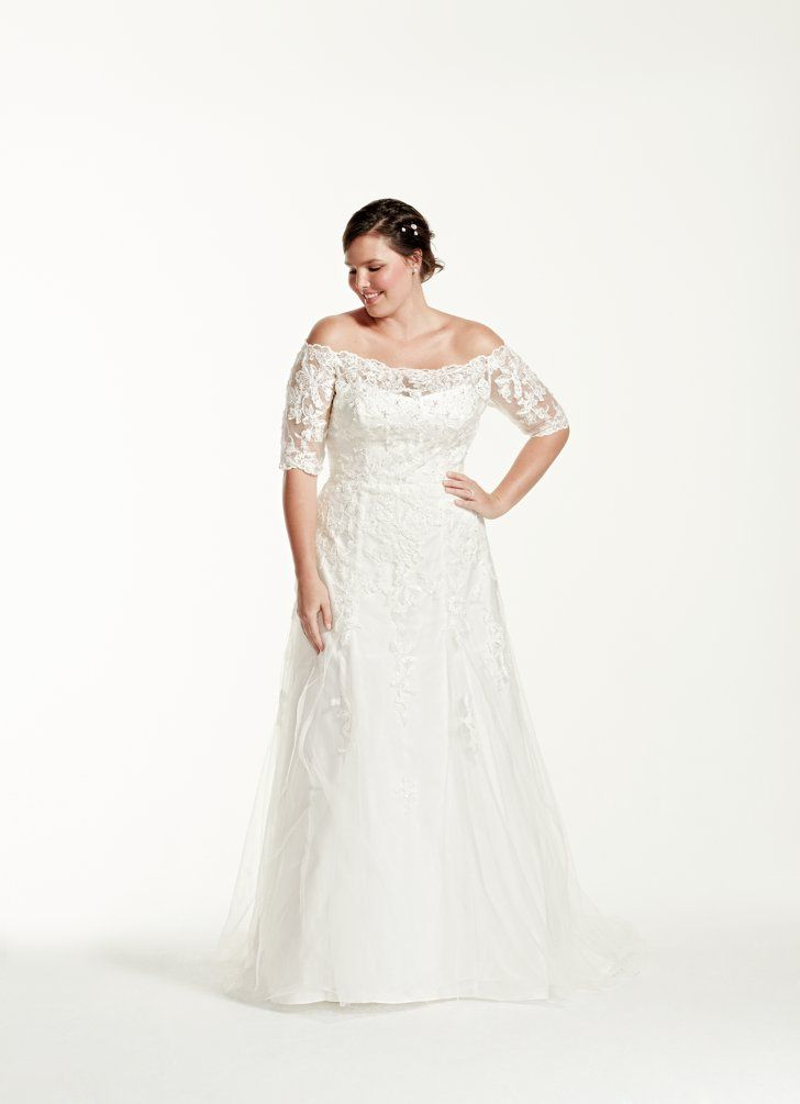 Beautiful Pin for Later Stunning Wedding Dresses For Curvy Women Jewel Sleeve
