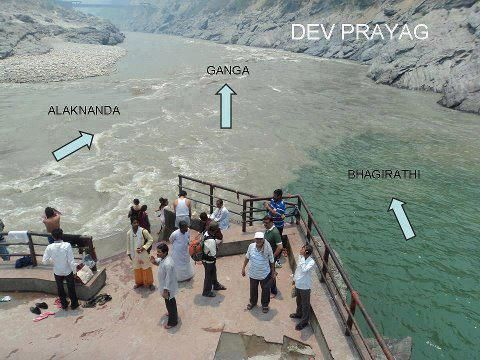 bhagirathi river and alaknanda meet at the airport