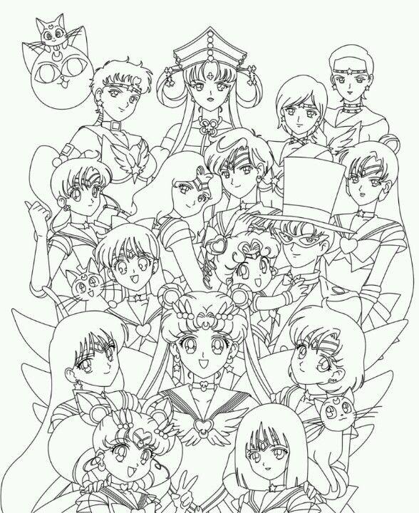 Sailormoon SailorStars. Sailor Senshi. Coloring Page. | Wedding ...